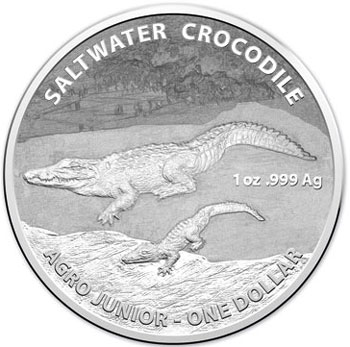 2015 Saltwater Crocodile Silver Coin