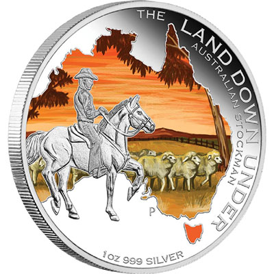 Australian Stockman 2014 1oz Silver Proof Coin