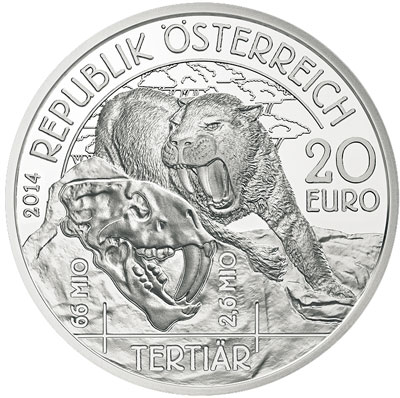 Tertiary Coin Sabre Toothed Cat