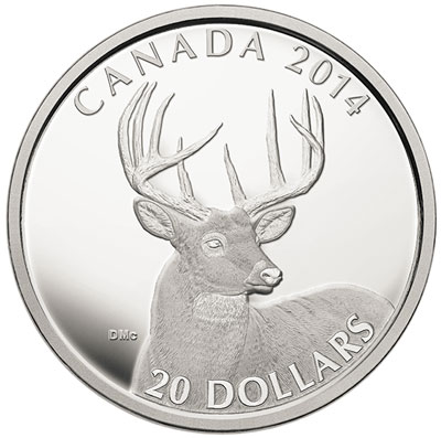 White Tailed Deer Silver Coin