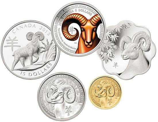Canadian Year of the Sheep Coins