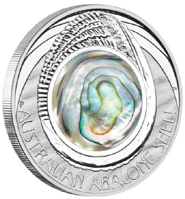 Abalone Shell Silver Coin