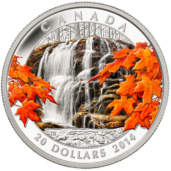 2014 Autumn Falls Silver Coin
