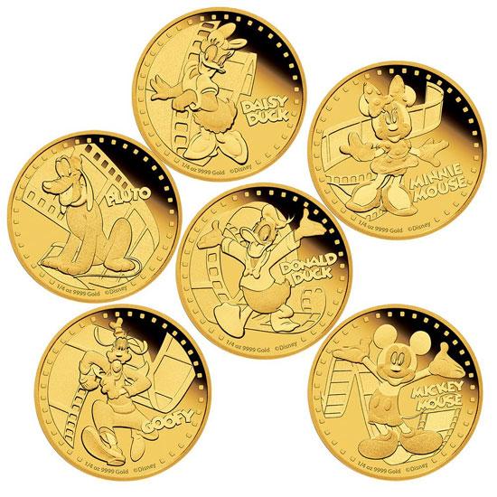 Disney Gold Coins