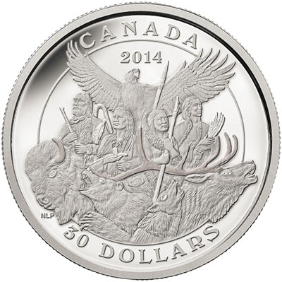 2014 National Aboriginal Veterans Monument Silver Coin