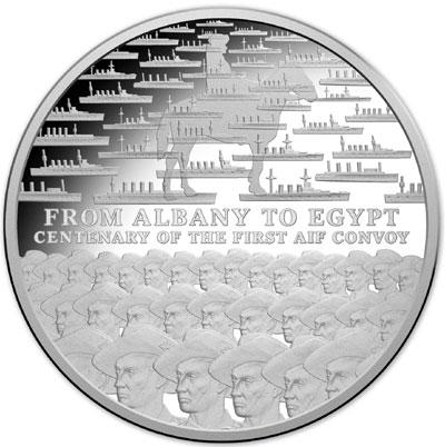 2014 100th Anniversary AIF Convoy Silver Coin