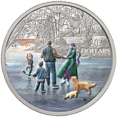 2015 Ice Dancer Silver Coin
