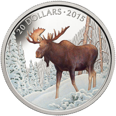 2015 Majestic Moose Silver Coin