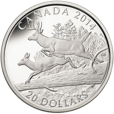 White Tailed Deer Silver Coin mates