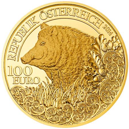2014 Wild Boar Gold Coin