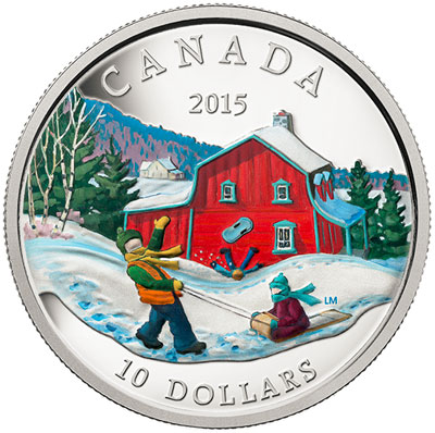 2015 Winter Scene 1/2 oz Silver Coin