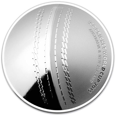 2015 Cricket World Cup Domed Silver Coin