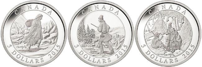 Cornelius Krieghoff Silver Coin Set