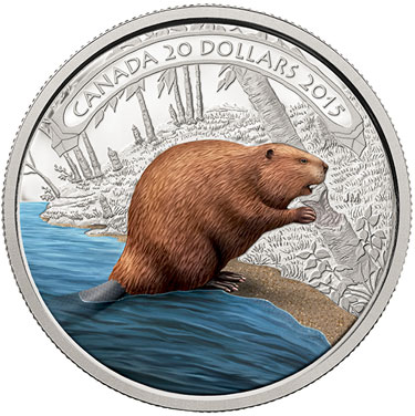 2015 Beaver at Work Silver Coin