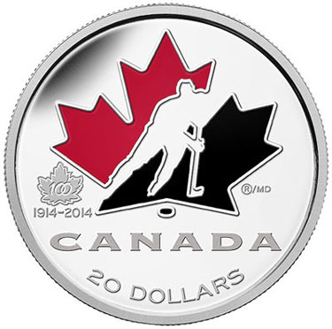 100th Anniversary of Hockey Canada Silver Coin