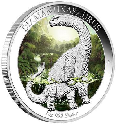 2015 Diamantinasaurus Silver Coin