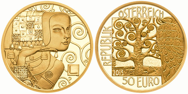 Klimt Expectation Gold Coin