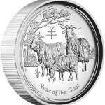High Relief Silver Year of the Goat Coin