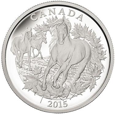 2015 Half Kilogram Silver Horse Coin