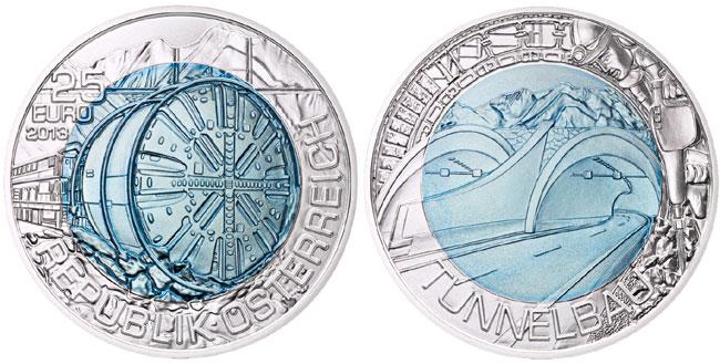 Austria Tunneling Bimetallic Coin