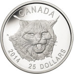 2014 Canada Lynx Ultra High Relief Silver Coin