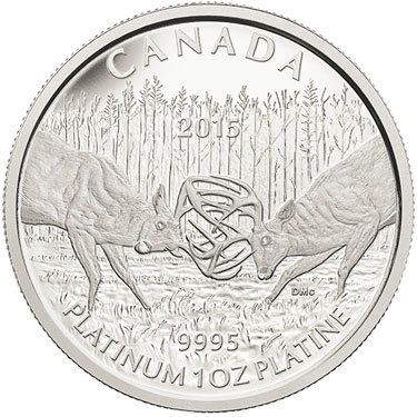 2015 White Tailed Deer Platinum Coin