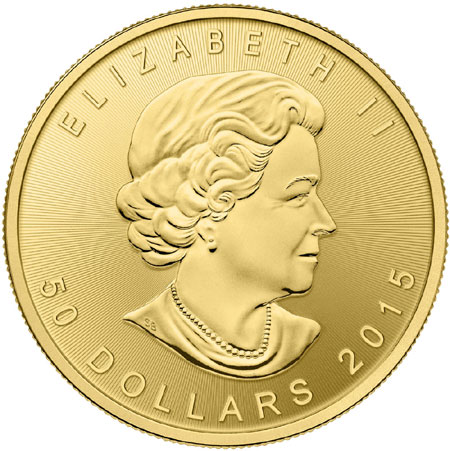 2015 Gold Maple Leaf obverse
