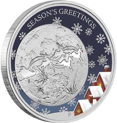 Perth Mint Christmas 2014 1/2oz Silver Proof Coin