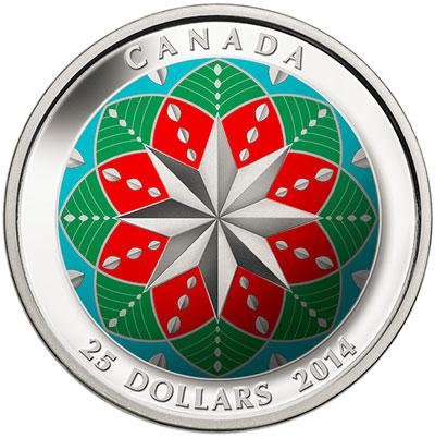 ultra-high-relief christmas coin