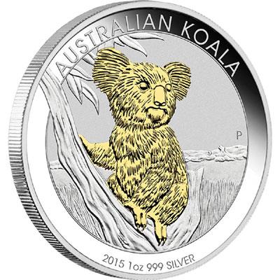 2015 Gilded Silver Koala
