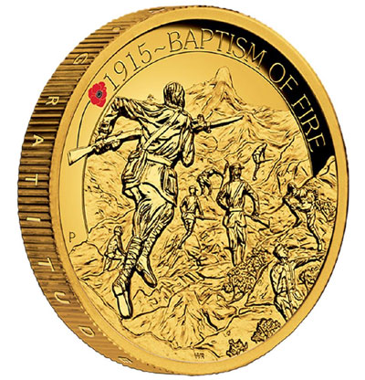 Anzac Spirit 100th Anniversary Gold Coin