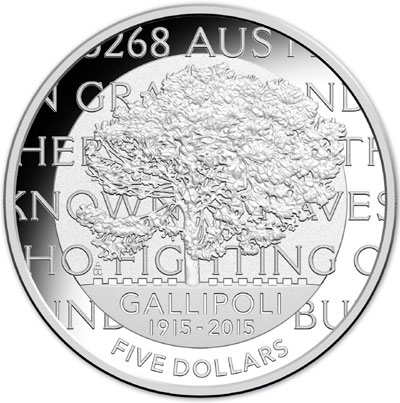 gallipoli silver proof coin
