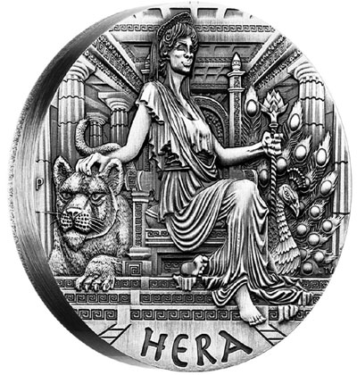 Hera High Relief Coin