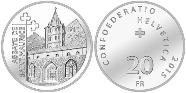 1500 Years St. Maurice's Abbey Silver Coin