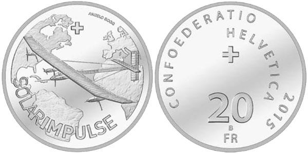 2015 Solar Impulse Silver Coin