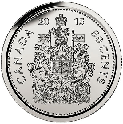 2015 Canada 50 Cent Coin