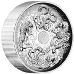 2015 High Relief Ancient Mythical Creatures Silver Coin