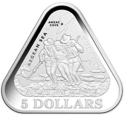Anzac Day Silver Triangular Coin