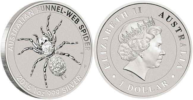 2014 Australian Funnel-Web Spider Silver Coin