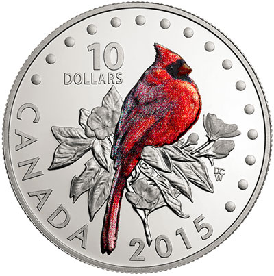 The Northern Cardinal Silver Coin
