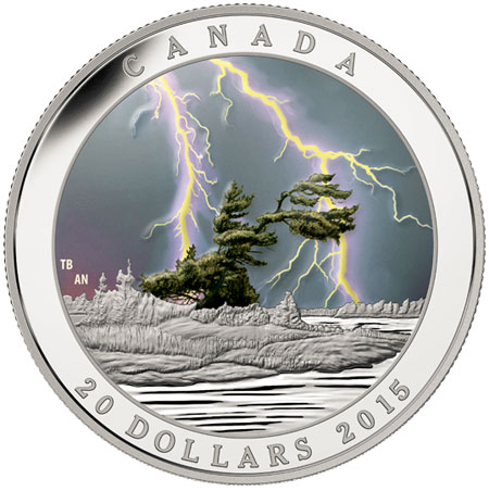 Summer Storm Black Light Coin