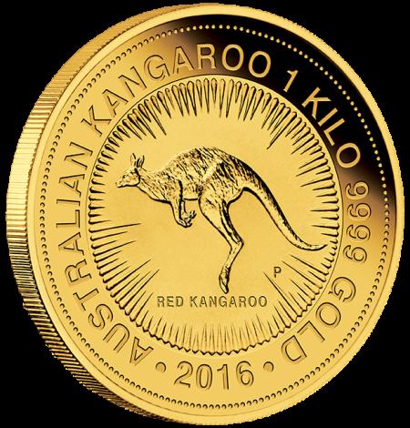 2016 Aus Kangaroo Gold 1 kilo Bullion