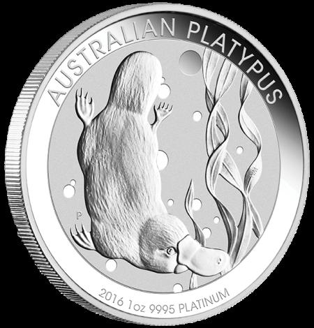 2016 Australian Platypus Platinum 1oz Bullion