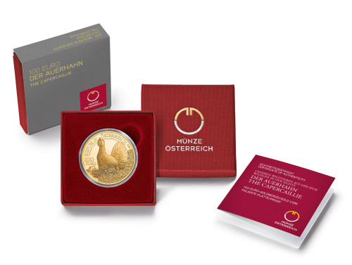 Grouse coin, cap & cert