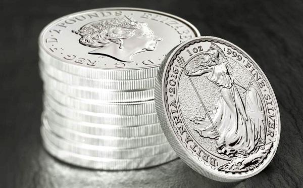 UK 2016 britannia 1oz silver stackWIDE