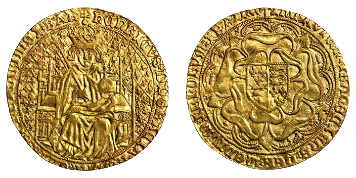 A rare Henry VII gold Sovereign, which sold for $499,375 in a Stack's Bowers auction in 2013.