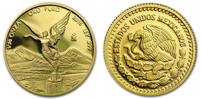 1/20-oz. gold Proof Libertad.