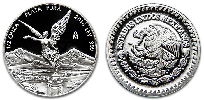 1/2-oz. silver Proof Libertad.