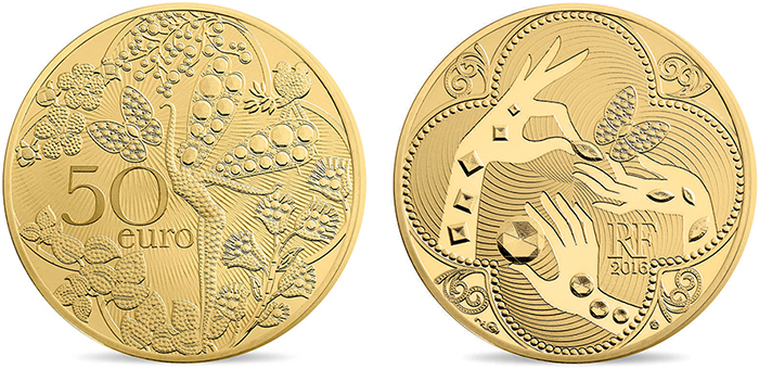 Van Cleef and Arpels €50 gold Proof.