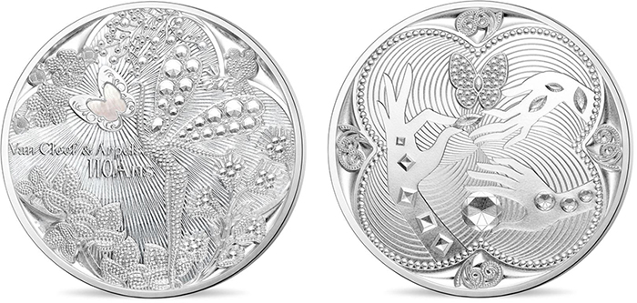 "Paris Mint ""French Excellence""—Van Cleef and Arpels silver medal."